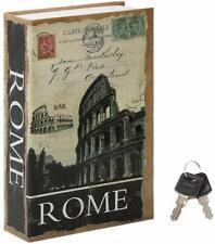 Diversion Secret Hidden Book Safe Key Lock Money Cash Jewelry Security Box Rome
