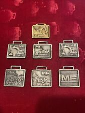 Collection Of Vintage 5 Mf Massey Ferguson Construction Watch Fobs Lot