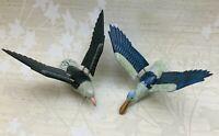 Lot of 2 Vintage Rare Bird Plastic Refrigerator Magnets