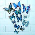 12PCS 3D Butterfly Art Decal Wall Stickers DIY Home Art Decor Room Decoration