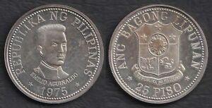 1975 Emilio Aguinaldo 25 Piso Philippine BSP Commemorative Silver Coin #A1