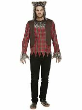 Adults Grey Werewolf Halloween Mens One Size Fancy Dress Costume