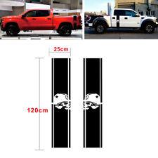 Pair Truck Bed Side Racing Stripe Skull Vinyl Decals Stickers For 1500 2500 RAM
