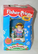 "FISHER PRICE LITTLE PEOPLE ""CHRISTMAS DAY"" KEEPSAKE ORNAMENT - 1999"