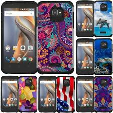 For Coolpad Catalyst / 3622A Slim Hybrid Armor Case Dual Layer Phone Cover