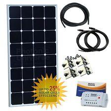 100W 12V solar charging kit motorhome campervan caravan off-grid brackets cables