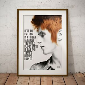 David Bowie - Space Oddity Lyrics Three Print Options or Framed Poster EXCLUSIVE