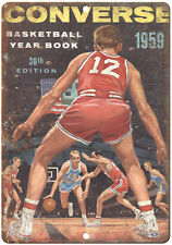 """1959 Converse Basketball Yearbook RARE 10"""" x 7"""" Reproduction Metal Sign"""