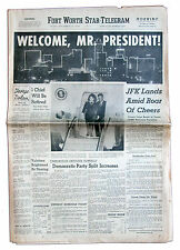 11/22/63 Ft. Worth Newspaper ''Welcome Mr. President''