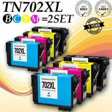 8PACK Remanufactured Epson 702XL T702XL High Yield Black and Colors WF-3720