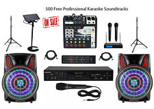 Karaoke System Home/Professional Machine Mixer w/Dual Cordless Mics