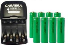AA / AAA Smart Charger with USB Plug + 8-Pack AA NiMH 1200 mAh Batteries