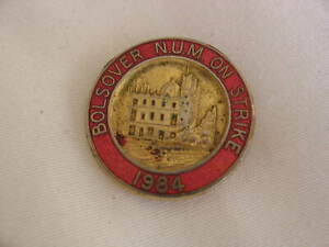 Miners strike colliery badges