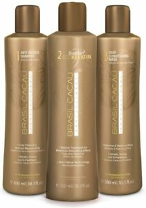 KIT Brazil Cacau ORIGINAL Brazilian ECO Keratin 3x 300ml/10.1oz = 900ml / 30.3oz