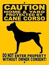 "Cane Corso Dog Sign, Guard Dog,9""x12"" Aluminum Sign,Gate Sign,Dog Sign,2496Cc1"