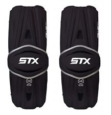 New Stx Stallion Hd Lacrosse Arm Guards Size Large Black High Def Polymer