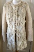Cream Faux Fur Coat Roman S 8 10 12