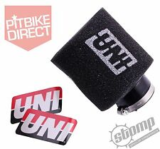 "UNI Air Filter Pit Mini Dirt Bike 1 1/2"" 22mm Stomp wpb 125 Gen USA Import Black"