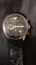 ARMANI Horloge Zwart met metalen riempje Goud zakelijke stijl Voor Heren