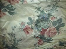 "CROSCILL Multi Floral Shirred Bed Ruffle, TWIN SIZE w/14"" drop, NEW"
