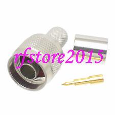 1pce Connector N male plug crimp RG8 RG213 LMR400 RG214 RF COAXIAL straight