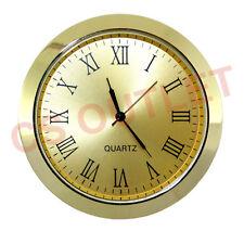 Orologio inserisci 60mm Lunetta Fit 55mm foro, Oro, numeri romani, Orologio, Faccia d'oro