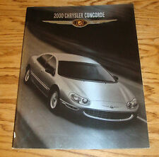 Original 2000 Chrysler Concorde Deluxe Sales Brochure 00