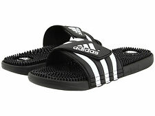 Mens Adidas Adissage Black Slides Shower Sandals Athletic Sport 078260 Size 6-15