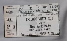 New York Mets  Vs Chicago White Sox Ticket Stub 2002 6/10/02