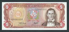 F.C. REPUBLICA DOMINICANA , NUMERO BAJO , 5 PESOS ORO 1978 , S/C (UNC) , P.118a