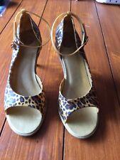 Fabuloso Melissa Estampado de Leopardo Zapatos Talla 5/EU38