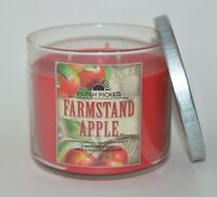 BATH BODY WORKS FRESH PICKED FARMSTAND APPLE SCENTED CANDLE 3 WICK LARGE 14.5OZ
