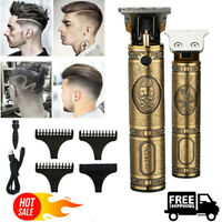 Electric Hair Clippers Professional Mens Retro Cordless Trimmer Beard Shaver NEW