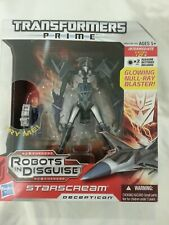 TRANSFORMERS PRIME ROBOTS IN DISGUISE STARSCREAM VOYAGER CLASS 2011