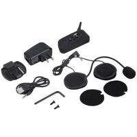 V6 1200M Motorcycle Intercom Bluetooth Headset 6 Riders Helmet Interphone System