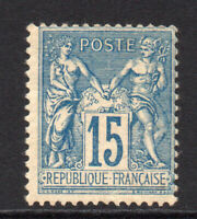 France 15 Centimes Stamp c1877-90 Mounted Mint Hinged (5785)