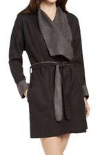 Alfani Super Soft Wrap Robe Womens XXL Black cozy pockets pajamas tie fleece 2x