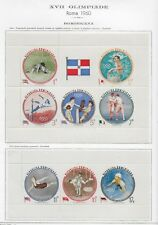 DOMINICANA 1960 OLIMPIADI WINNING mini-sheet ** MNH Foglietti