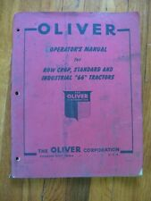 1950 Oliver Row Crop Standard Industrial 66 Tractor operators manual ORIGINAL
