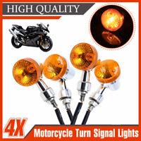 4x Amber Universal Motorcycle Motorbike Bike Turn Signal Indicator Light Bulb