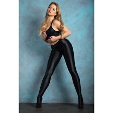 Miss O Glossy Opaque Tights. T800. Wet Look Fashion. 120 Denier. Lycra XtraLife