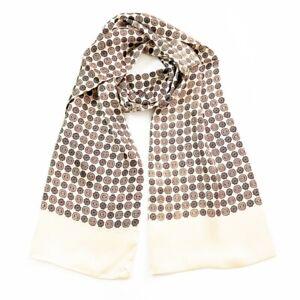 Men's 100% Silk Scarf Long Neckerchief Double Layer Print Cravat 160*28cm