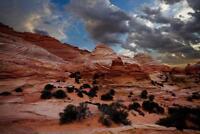 Wavy Desert Photo Art Print Poster 24x36 inch