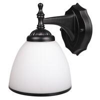 Wall Sconce LED Glass Light Lamp Shade Matte Bathroom Home Lighting Fixture E27