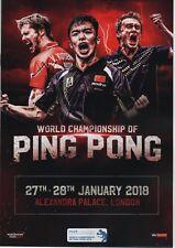 2018 Campeonato Mundial de Ping Pong programa oficial: Tenis De Mesa/Ping Pong
