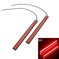 2Pcs Red super bright cob car waterproof 12v led light drl fog driving lamp q qx