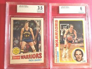 RICK BARRY 1978-79 Topps #60 BVG 6 AND 1977-78 Topps  #130 BVG 3.5 two card lot