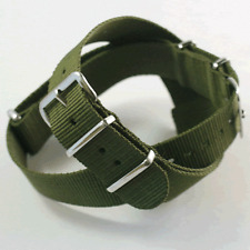 Olive / US Army Green  Nato / Nylon Watch Strap: 18mm, 20mm, 22mm or 24mm (FL24)