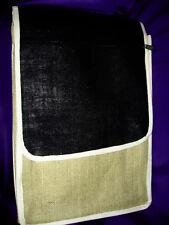 SHS174 Ancient Wisdom Eco Friendly Jute Laptop/Student/Artists Bag/ Pouch Black
