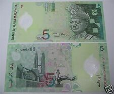 MALAYSIA $5 POLYMER Ringgit Currency Notes (2 Pieces)